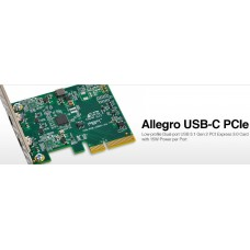 Allegro USB 3.1Two-Port USB-C 10Gb PCIe Card (15W per port) [Thunderbolt compatible]