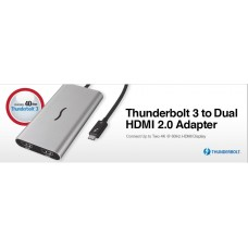Thunderbolt 3 to Dual HDMI Adapter - Supports 4K Displays (Mac & Windows) model no TB3-DHDMI